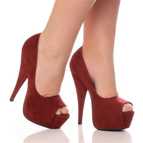High Heels Sn320 B womens platform pumps stiletto high heel peep toe court shoes size