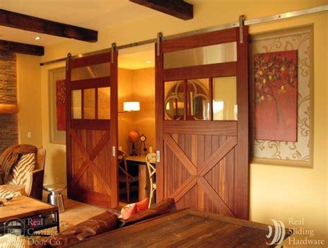 Sliding Barn Doors On Entertainment Rooms Eclectic Real Sliding Barn Doors