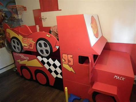 lightning mcqueen bedroom decorating ideas lightning mcqueen style bunk bed with by