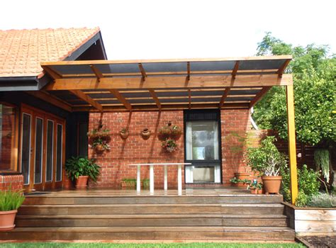 flat roof pergola plans from colorbond to polycarbonate laserlite to a tiled