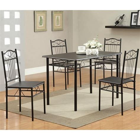 black metal dining table and chair set a sofa