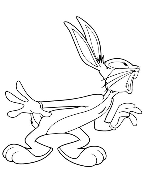 cute bugs bunny cartoon coloring page h m coloring pages