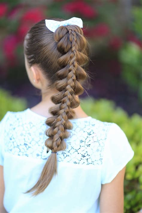 pull through braid easy hairstyles cute girls hairstyles stacked pull through braid cute girls hairstyles