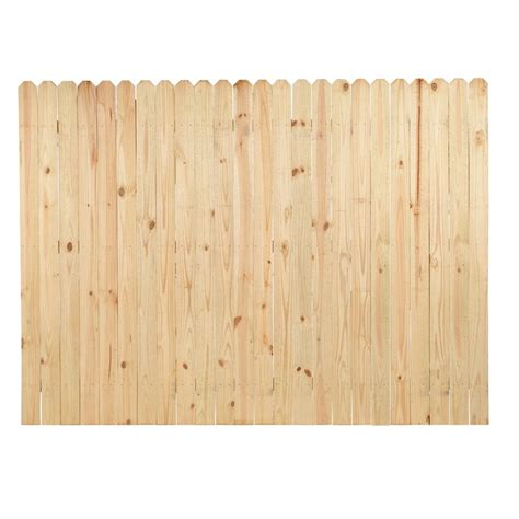 lowes fence sections shop severe weather pressure treated pine privacy fence