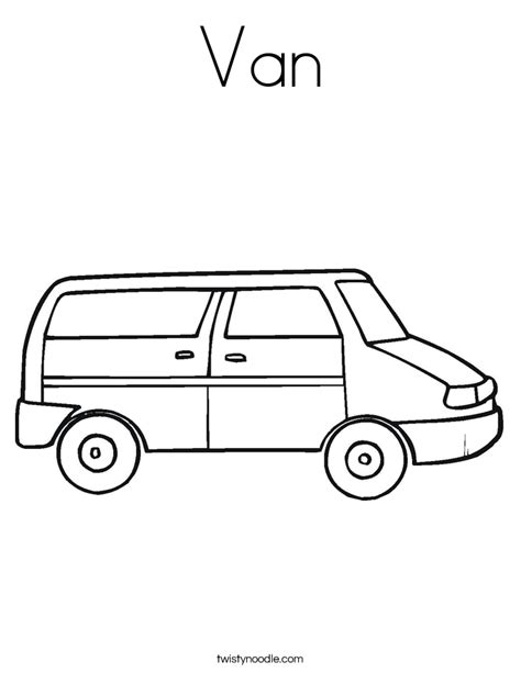 coloring page of a van van coloring page twisty noodle