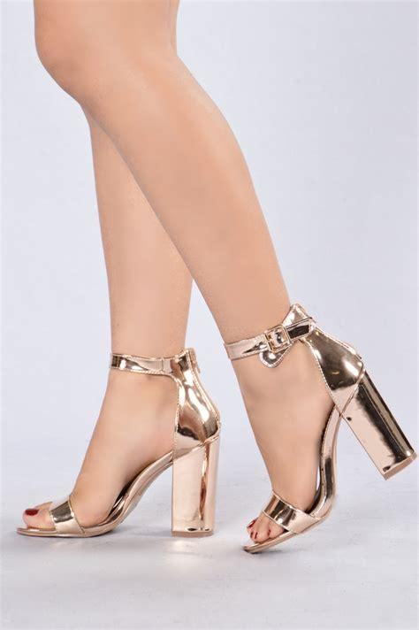 Golden Cross Chunky Heels Import 2 estella heel gold