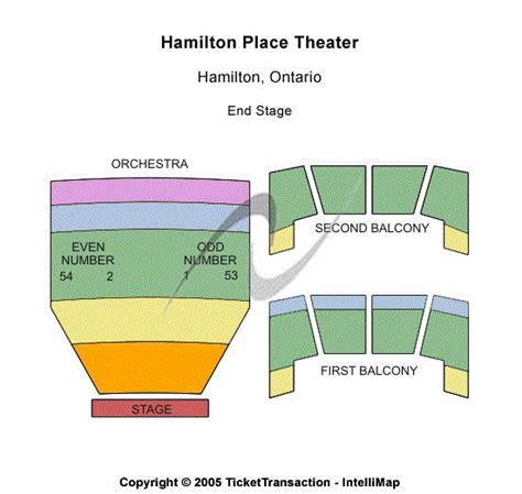 playhouse square seating hamilton hamilton place theatre seating chart