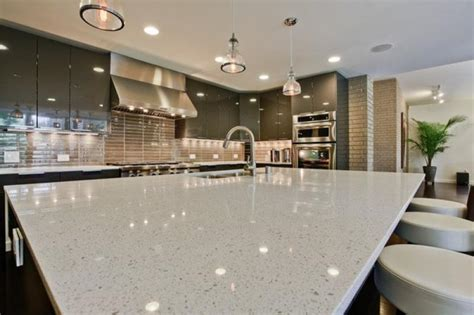 Pros And Cons Of Granite Vs Quartz Countertops best white quartz countertop contemporary kitchen design beige backsplash home inspiring