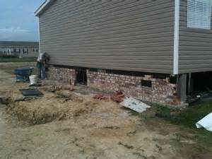 mobile home underpinning brick skirting for manufactured homes thgtexas htm 477241
