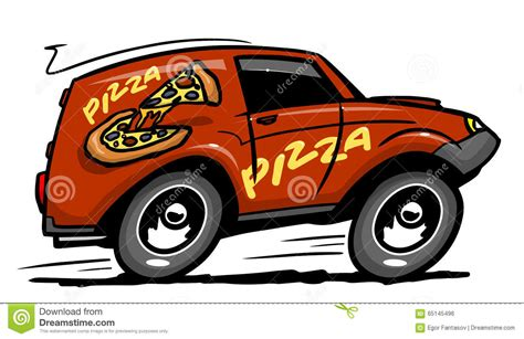 Pizza Auto by Pizza Delivery Car Stock Vector Illustration Of Food