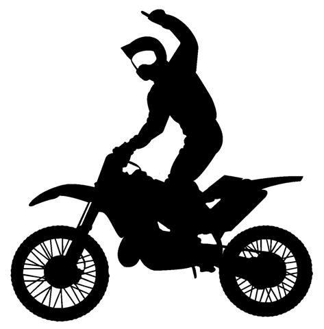 dirt bike clipart motocross silhouette gallery