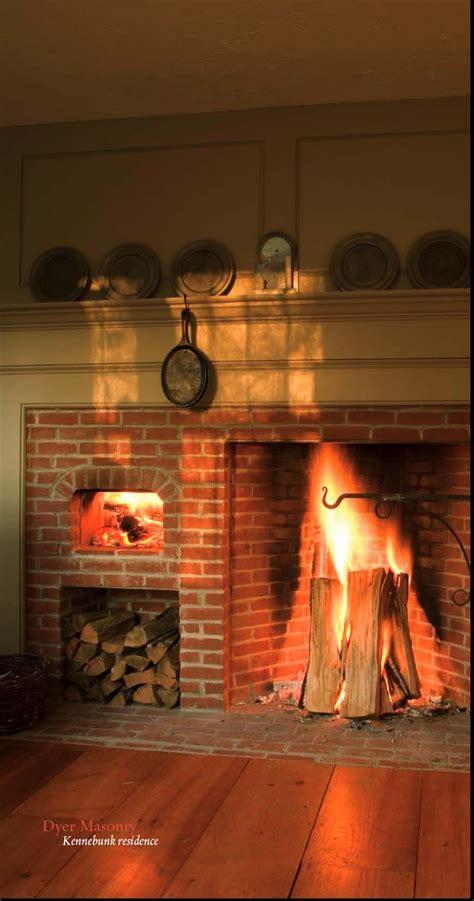 cooking fireplace  maine  dyer masonry  buckley