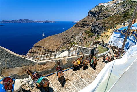 porto santorini come arrivare dal porto di santorini a fira bongi travel