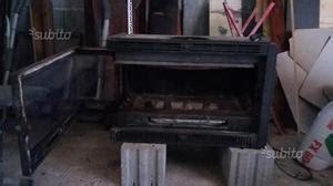 camino a legna usato inserto caminetto della palazzetti ventilato posot class