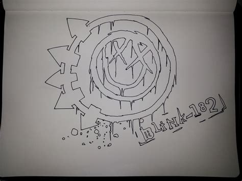 drawing blink 182 logo blink 182 wip by tangypineapple on deviantart