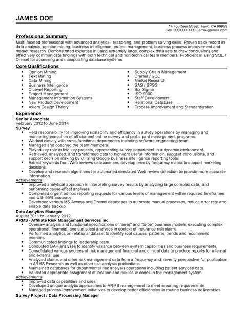Jobs No Resume Needed by Professional Data Analytics Manager Templates To Showcase