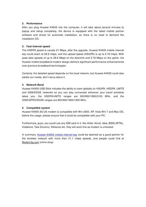 Modem Huawei K4505 review of huawei vodafone k4505 usb modem