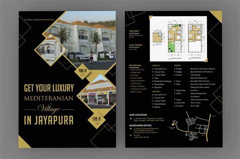 desain brosur 1 warna gallery desain brosur untuk perumahan