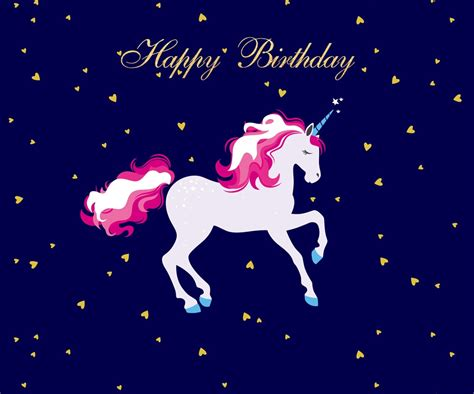 unicorn happy birthday photography backdrops blue photo