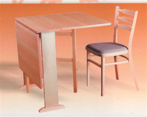simple pine wood drop leaf dining table for small