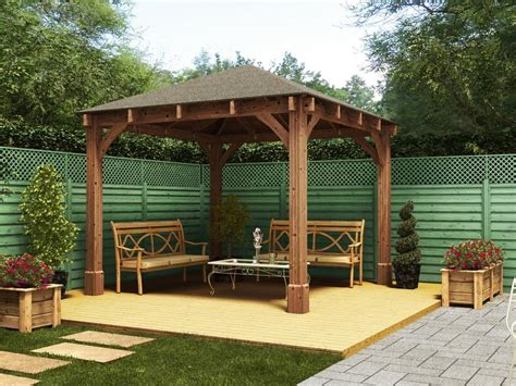 garden gazebo kits gazebos wooden open heavy duty garden gazebo kit square