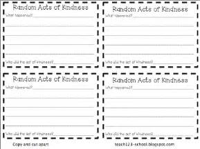 random acts of kindness template random acts of kindness teach123