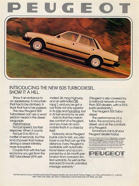 peugeot 505 vintage car ads