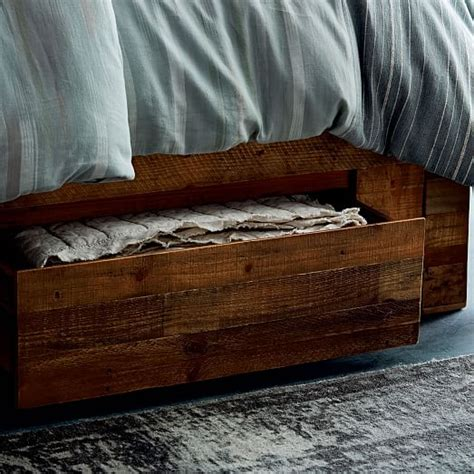 reclaimed wood storage bed emmerson 174 reclaimed wood storage bed west elm
