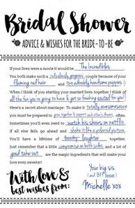 Advice To The Bride And Groom Cards Fun Printable Bridal Shower Advice Cards Free Download