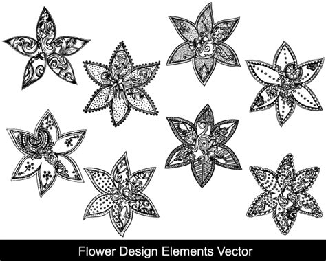 design elements for photoshop flower design elements vector vector photoshop brushes