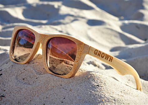grown sustainable wooden eyewear cool material