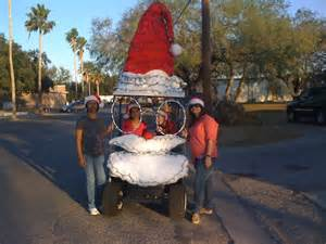 our golf cart decorated for the christmas parade quotes