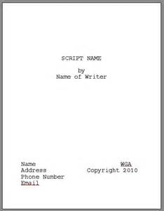 Script Title Page Template by Goals And Ambitions The Next Quentin Tarentino