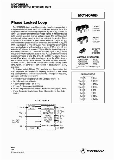 Loop 92k mc14046 30676 pdf datasheet ic on line