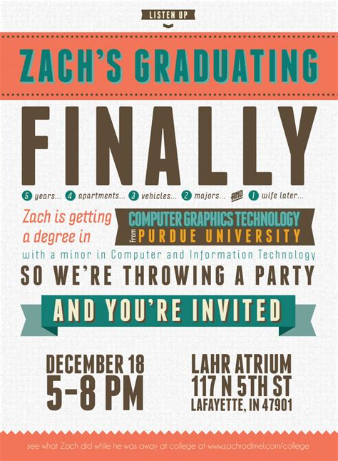 free indesign invitation templates free typography style college graduation invitation