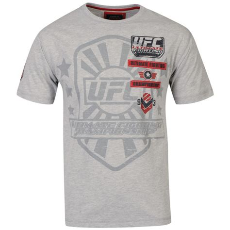 ufc men s sponsor t shirt grey clothing thehut com