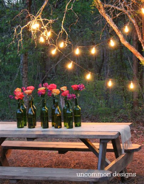 outdoor backyard lighting ideas easy outdoor lighting ideas