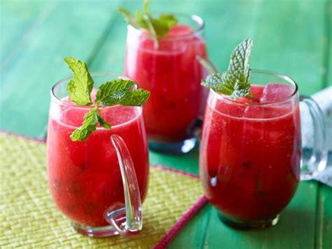 watermelon  mint agua fresca fresh fruit blended