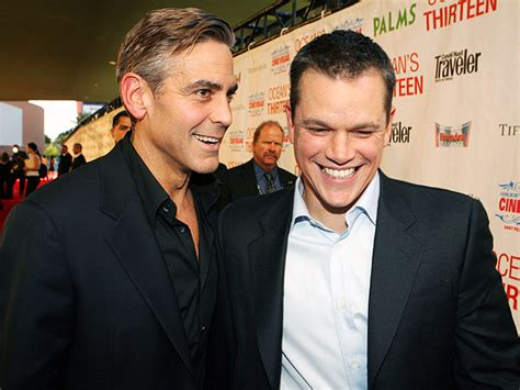 george clooney and matt damon george clooney hilariously pranks matt damon into thinking