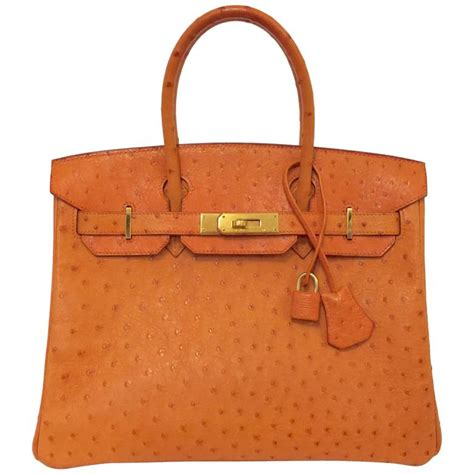 V Hermes Birkin Ostrich Ghw With 921 2002 hermes birkin 30 orange ostrich ghw w bonus orange
