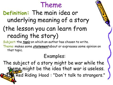 theme power definition elements of a short story ppt video online download