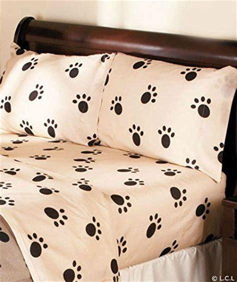 paw print comforter dog paw print sheet set or pillow sham blanket ensemble