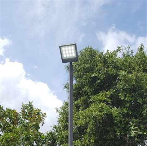 Outdoor Sport Court Lighting 2 Pole 2 X 378w Led Court Lighting