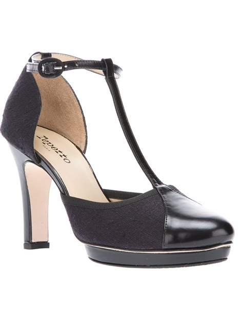 closed toe sandals s repetto tbar closed toe sandal in black lyst