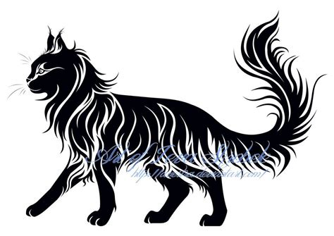 cat tribal tattoos walking cat tribal by avestra on deviantart