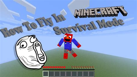 how to fly with a how to fly in minecraft survival mode
