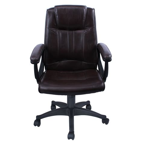 Executive Office Desk Chairs High Back Pu Leather Executive Ergonomic Office Chair Desk Task Computer Black Ebay