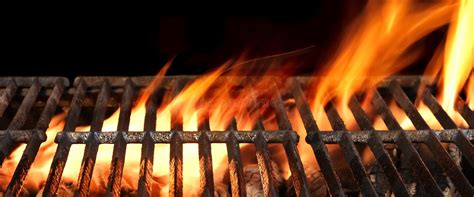 barbecue fire grill isolated   black background