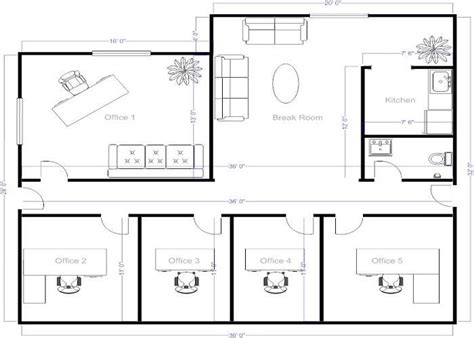 Free Office Floor Plan | 4 small offices floor plans small office layout floor