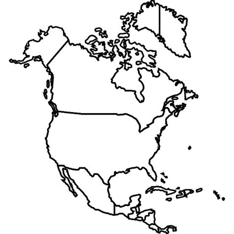 blank map of us canada and mexico usa canada mexico vector map at vectorportal